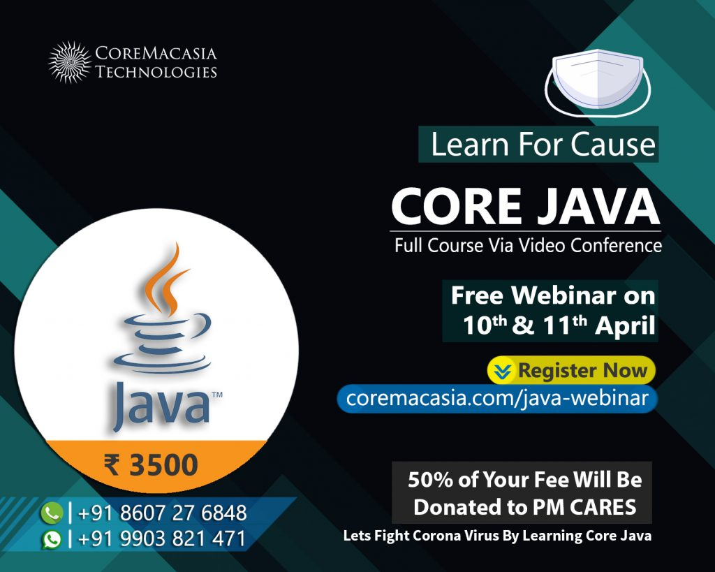 core java webinar conducted by coremacasia technnologies